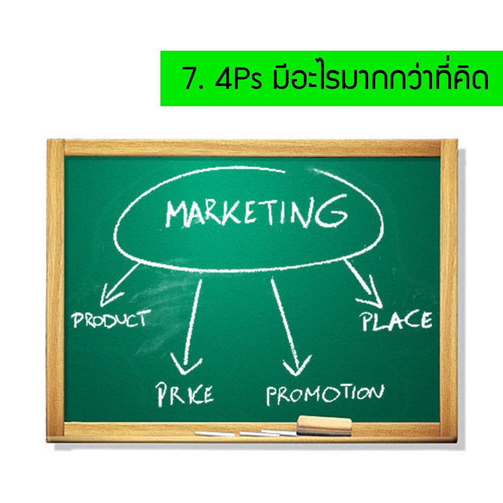 บทความการตลาด บทความธุรกิจ 10 สิ่งที่ควรเข้าใจในการทำการตลาด 4P's